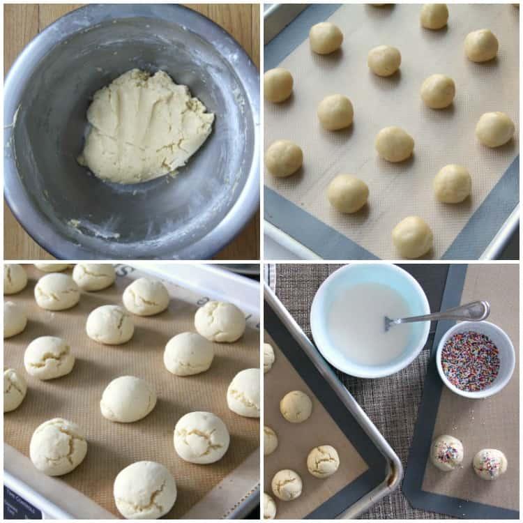 Steps to making sprinkle cookies