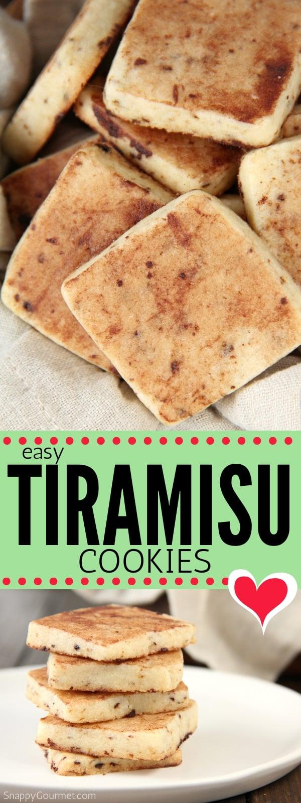 Tiramisu cookie collage