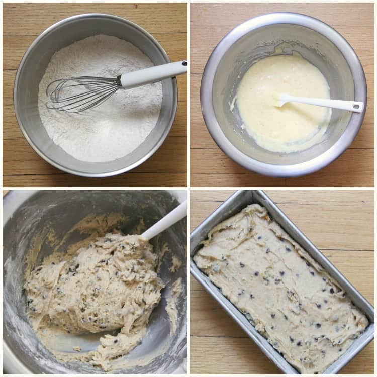 Steps to how to make Cannoli Bread