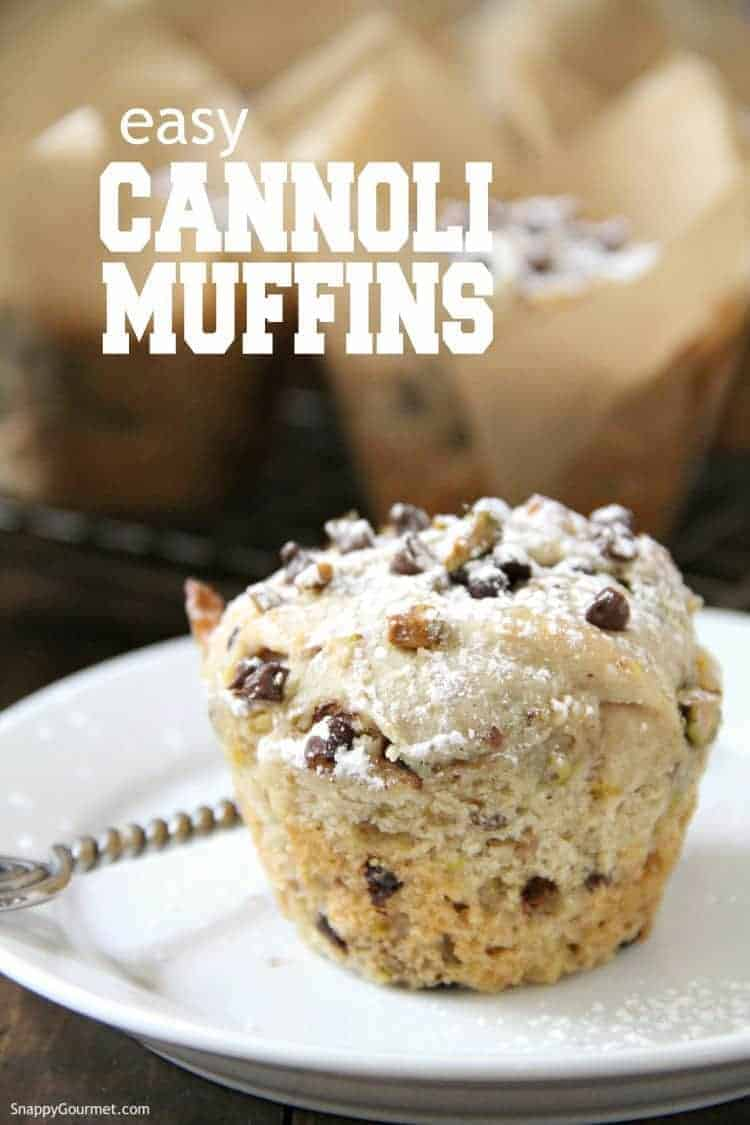 Cannoli Muffin on plate