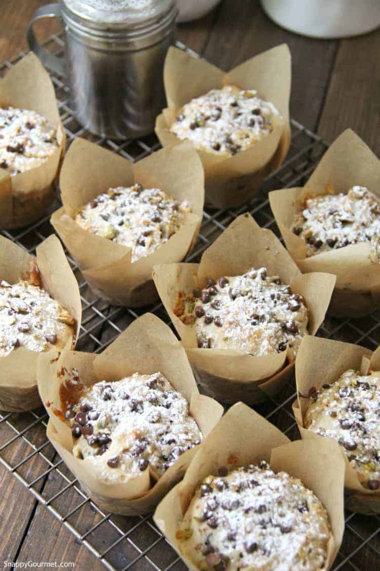 Cannoli Muffins in paper cupcake liners