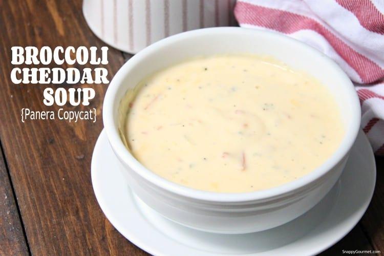 Broccoli Cheddar Soup in bowl