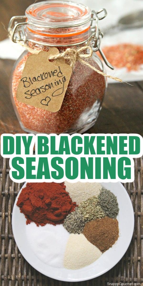 collage of blackened seasoning