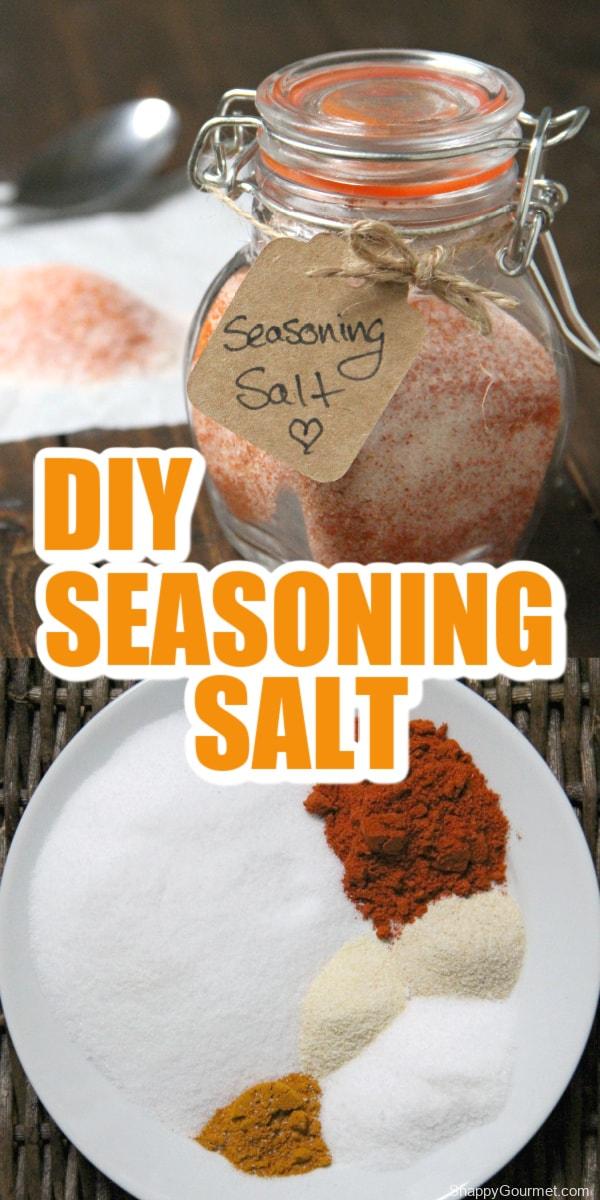 collage of seasoning salt