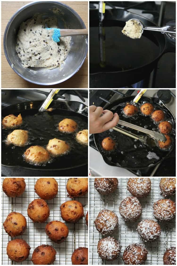 steps to how to make cannoli ricotta fritters