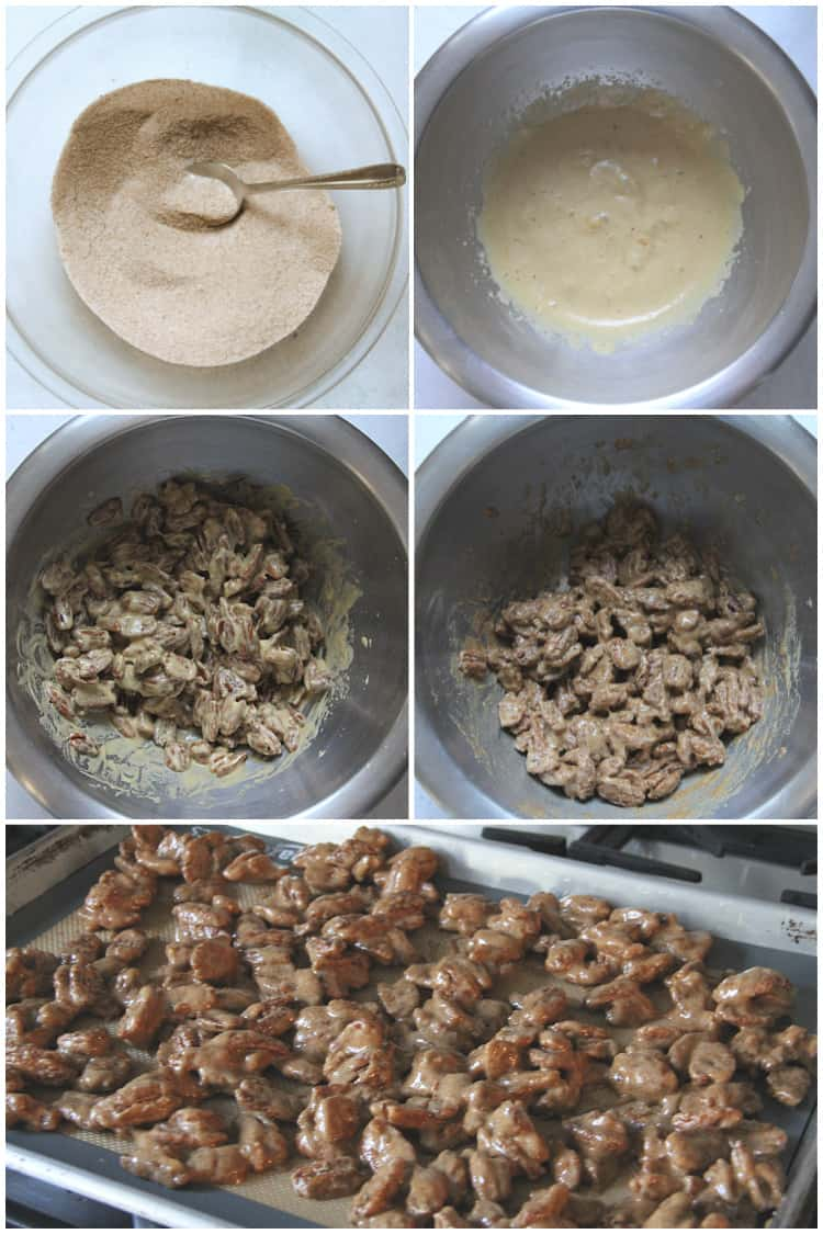 steps for how to make Gingersnap Roasted Candied Pecans