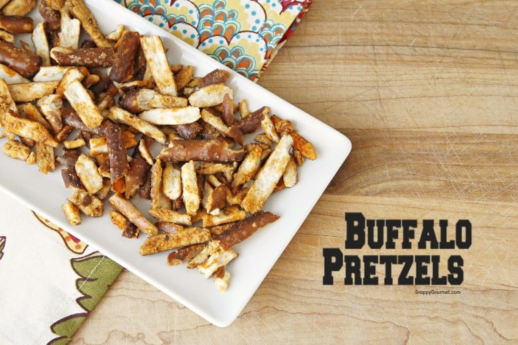Buffalo Pretzels on white plate