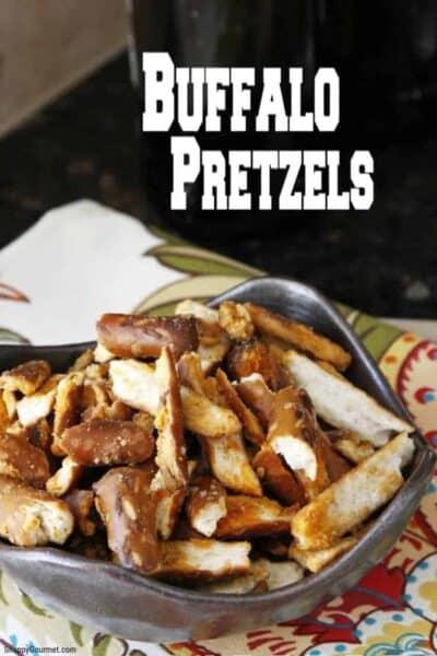 buffalo pretzels in bowl