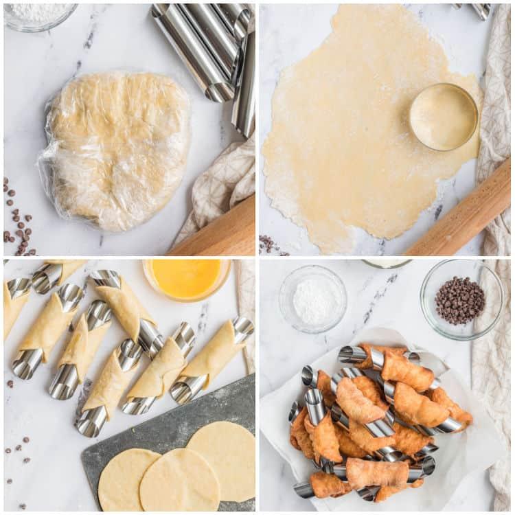 how to make cannoli shells steps