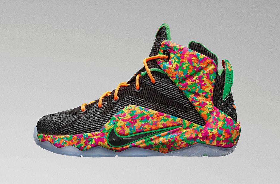 Nike LeBron 12 GS Fruity Pebbles - Sneaker Bar Detroit