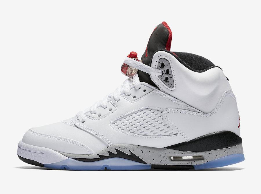 Air Jordan 5 Cement Full Family Sizing Sneaker Bar Detroit