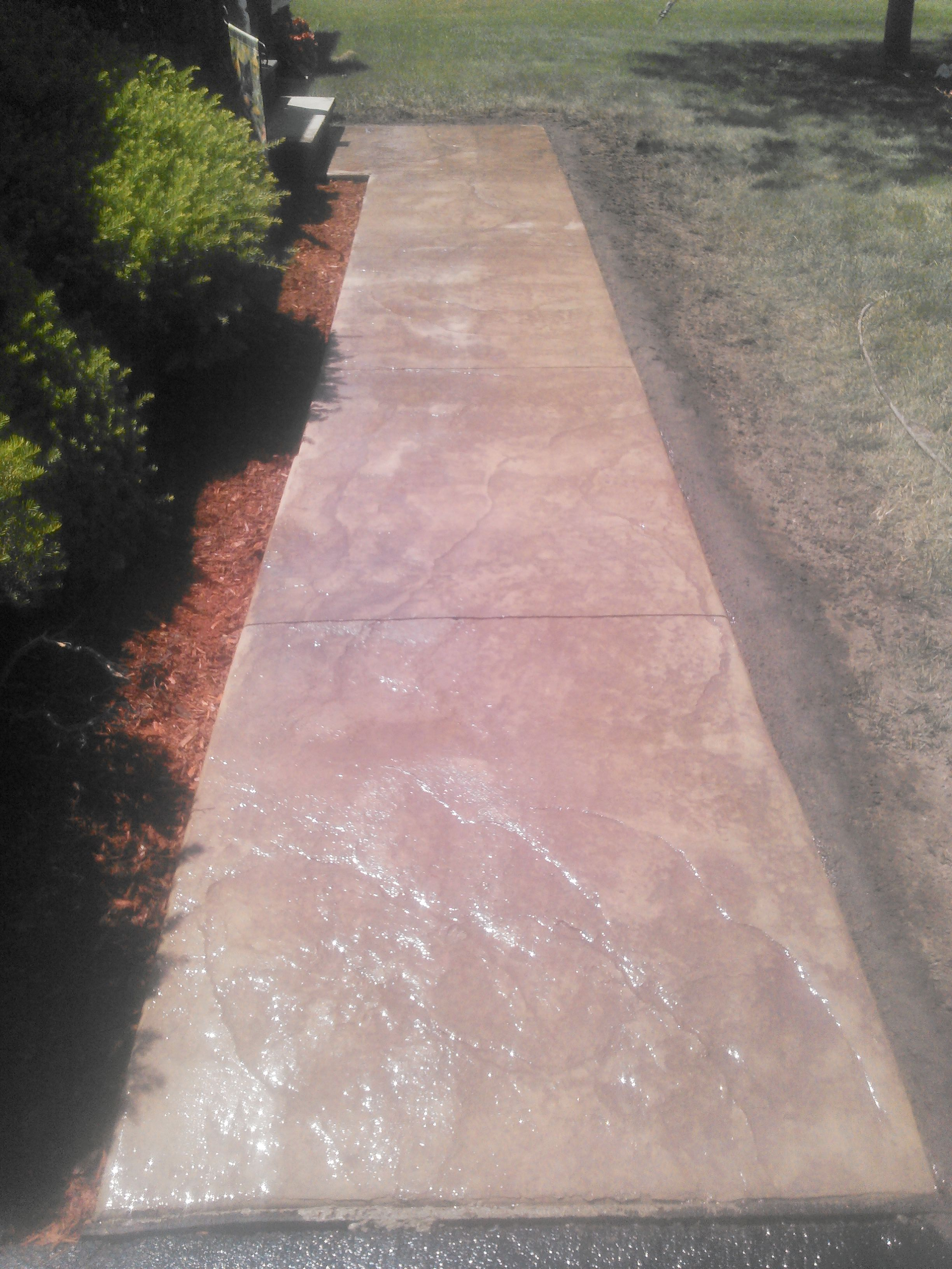 Stamped Concrete Walkway Binghamton Ny Snow S Building Amp Construction