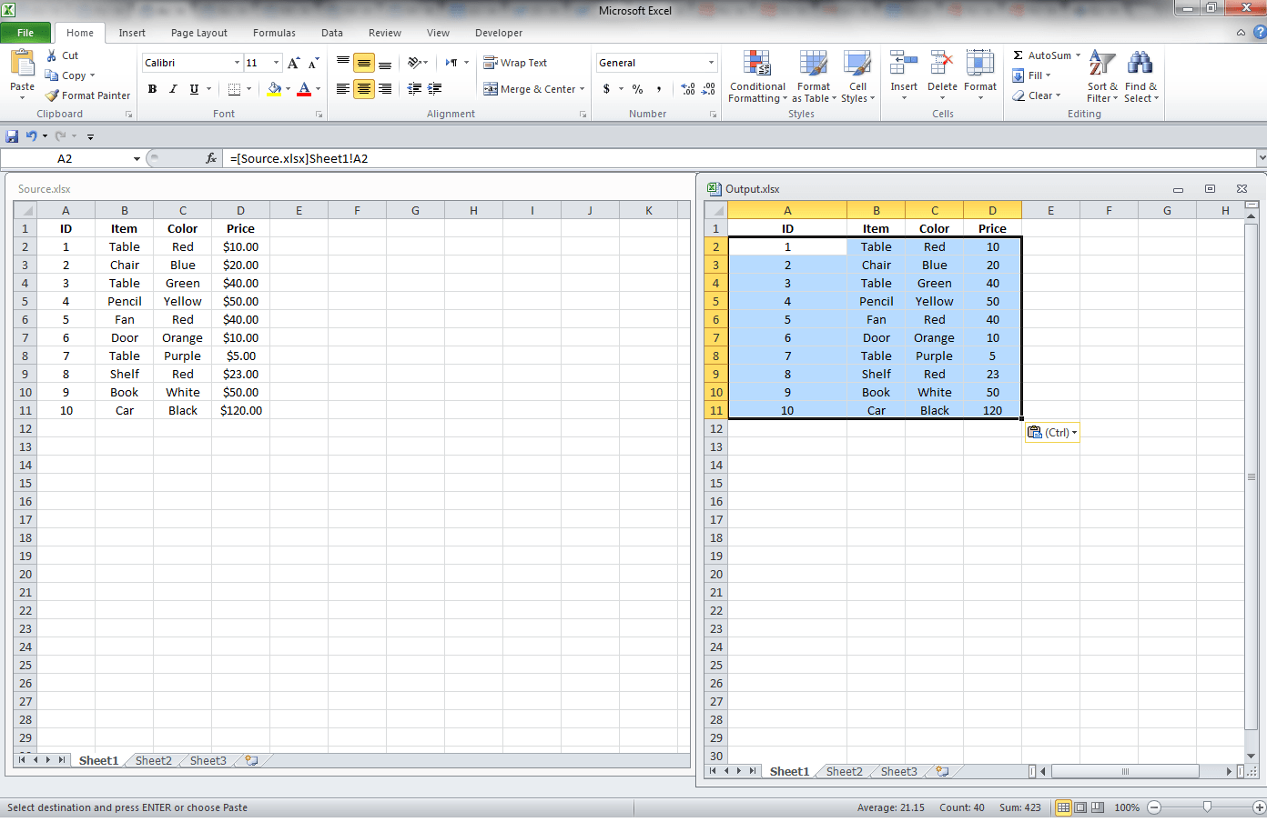 Excel Gett G D T From Her W Kbook Through L Ks Vb Nd