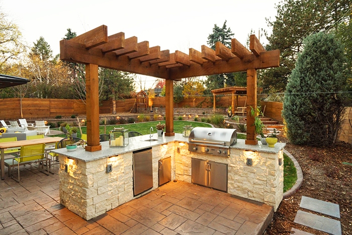 Stone Built Outside Grills