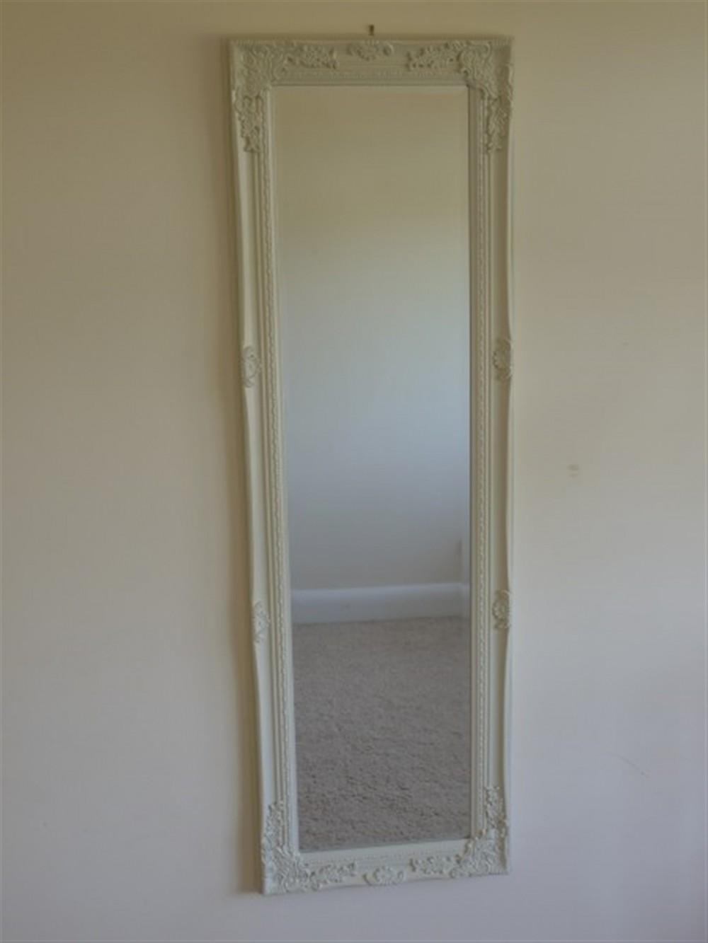 Cream Long Mirror 40x130cm Somerset Reclamation Radstock