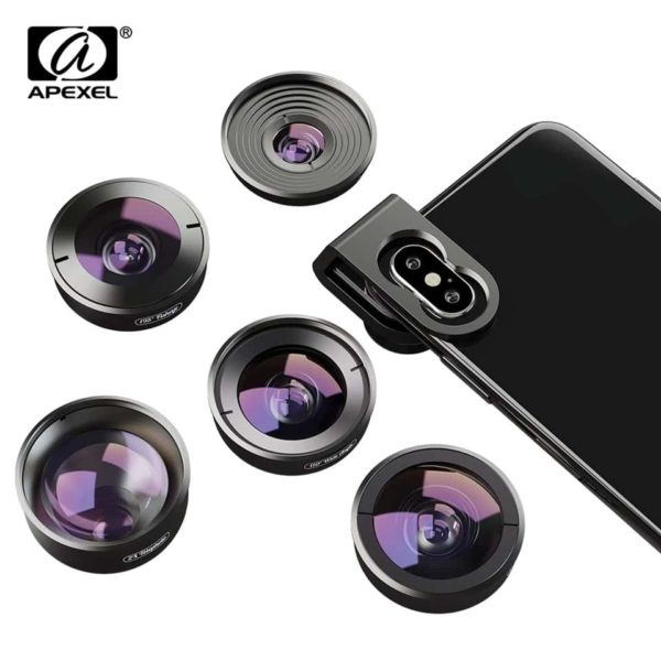 Apexel 5 in 1 Professional HD Lens for SmartPhone SOP