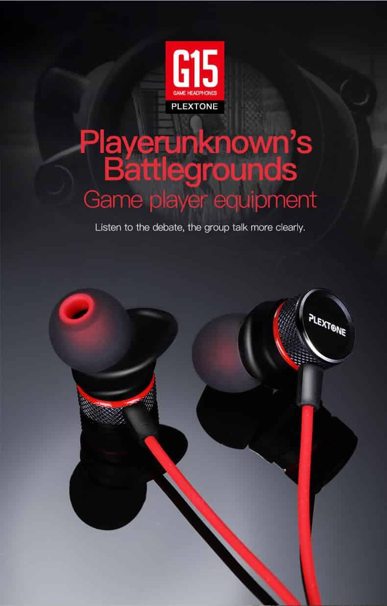 PLEXTONE G15 Magnetic Stereo Gaming Earphone SOP