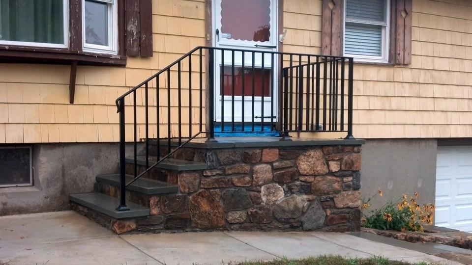 Wrought Iron Railings Ma Ri Custom Iron Hand Rails Ornamental | Curved Wrought Iron Railings | Colonial | Wood | Wall Mounted | Outdoor | Veranda