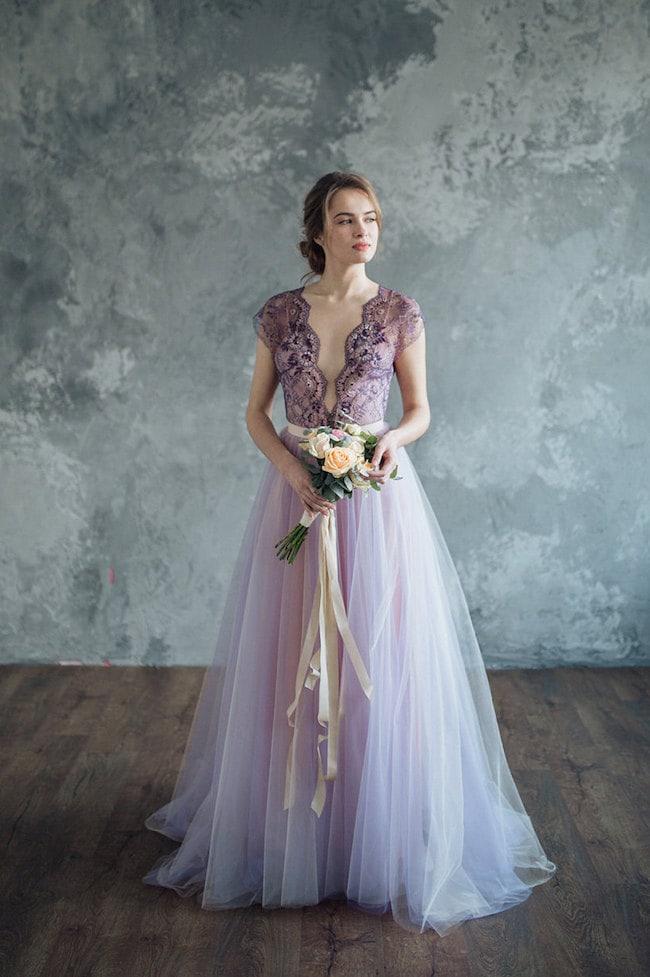 Lilac Amp Lavender Wedding Dresses Southbound Bride