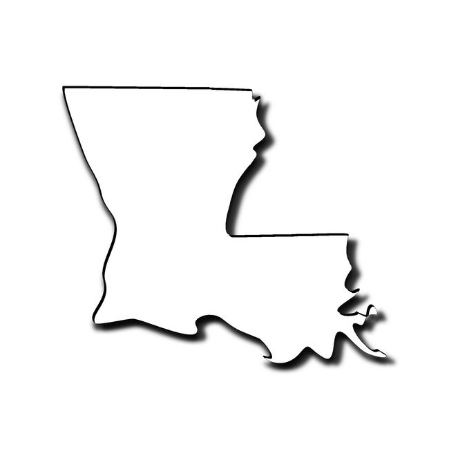 Louisiana outline - Southern Airboat Picture Gallery Archives