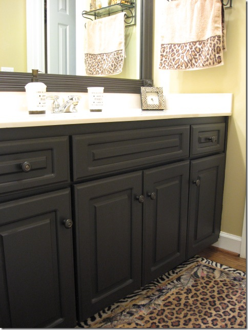 Black Painted Laminate Cabinets Southern Hospitality