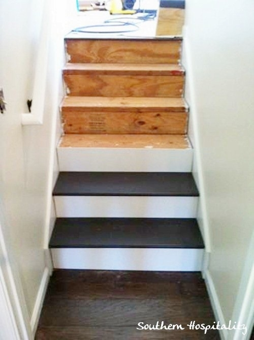 Painted Stairs And Adding Runners Southern Hospitality | Adding Carpet To Stairs
