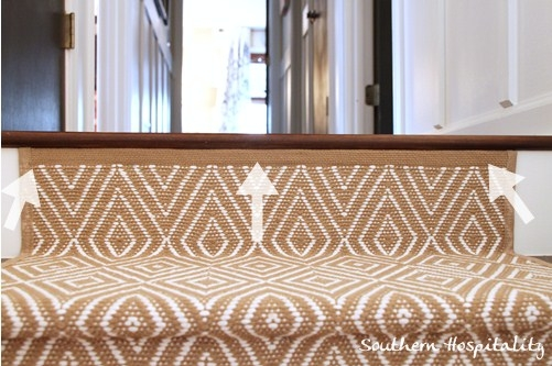 Painted Stairs And Adding Runners Southern Hospitality | Lowes Stair Runners By The Foot | Lowes Com | Stair Railing | Stair Climber | Painted Stairs | Carpet Stair