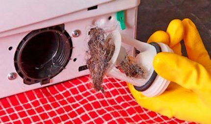 Чистка фильтра стиралки