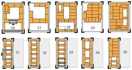 Utför Brick Masonry Spis 26 - 35 rad