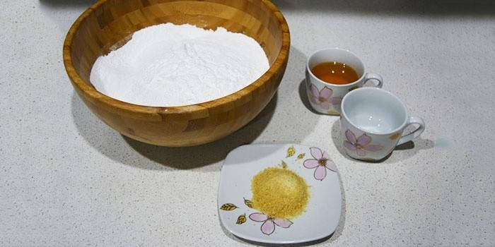 Ingredientes para masilla de miel