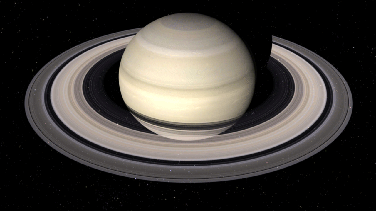 And Planet Black White Saturn