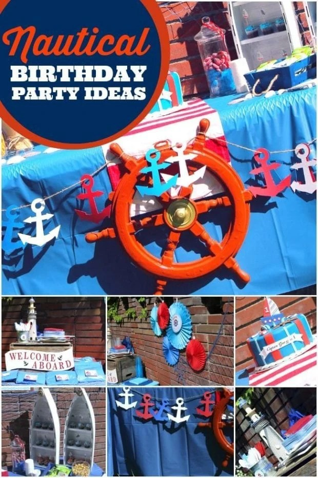 A Boy S Nautical 1st Birthday Party Spaceships And Laser