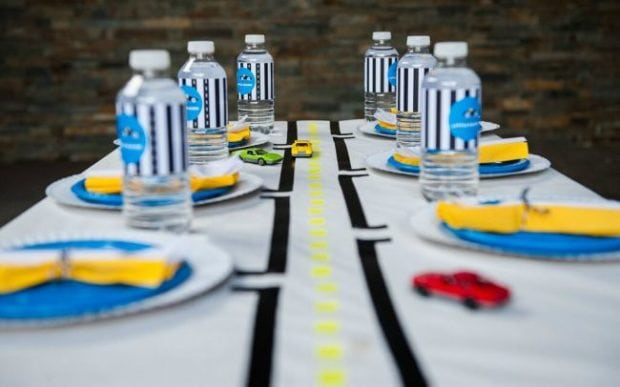 A Modern Boy S Race Car Birthday Party Spaceships And