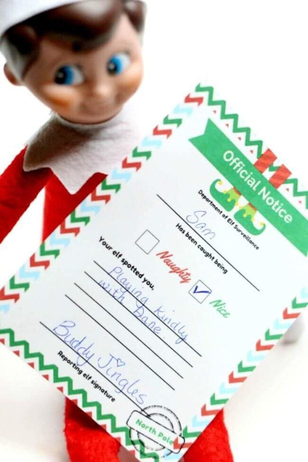 elf shelf introduction letter template printable