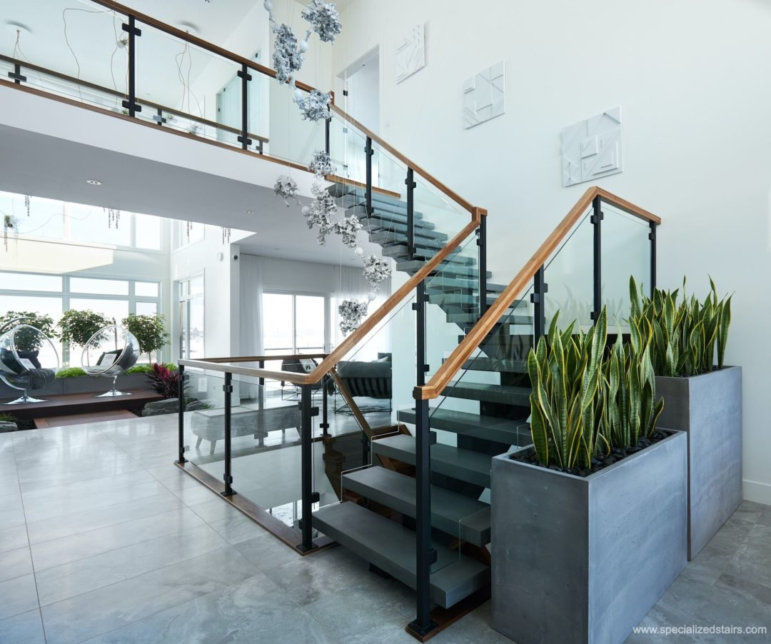 What Are Mono Stringer Stairs Specialized Stair Rail Edmonton | Steel Stair Stringer Design | Exterior | Free Standing | Indoor | Modern | Staircase Bar Length