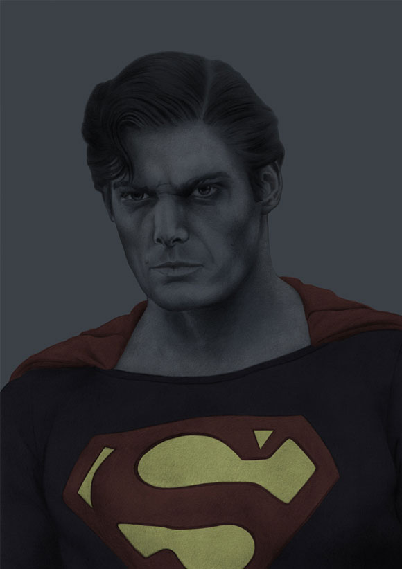 Image of: Pencil Christopher Reeve Speckyboy 30 Stunning Hyperrealistic Pencil Drawings