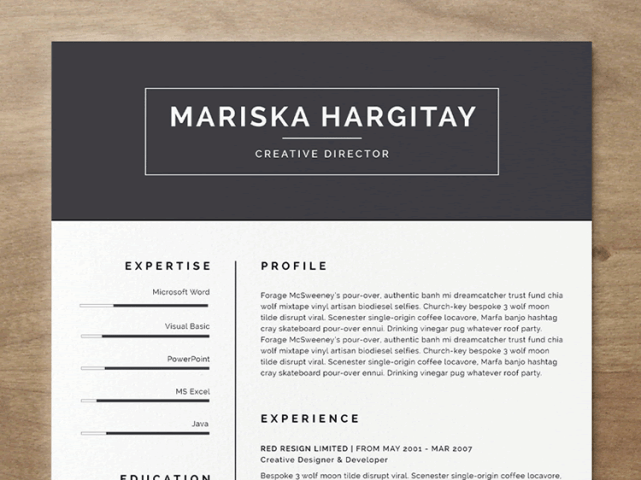 20 Beautiful   Free Resume Templates for Designers Free Resume Template
