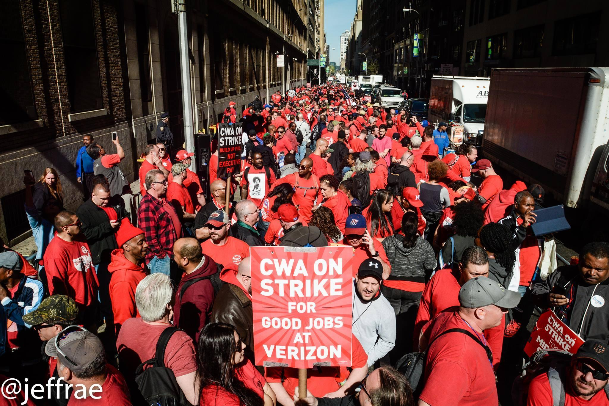 Verizon Strike Gains Strength Support From Presidential