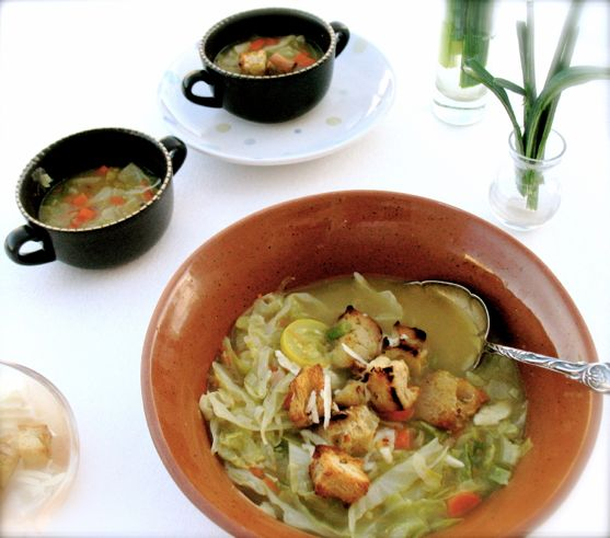 Ribollita, Tuscan Cabbage Soup by Angela Roberts