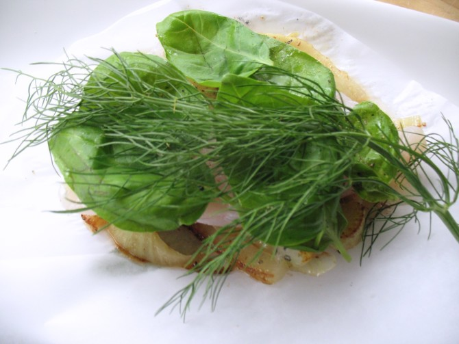 Easy Fast Dinner Recipes: Grouper Fennel from Spinach Tiger