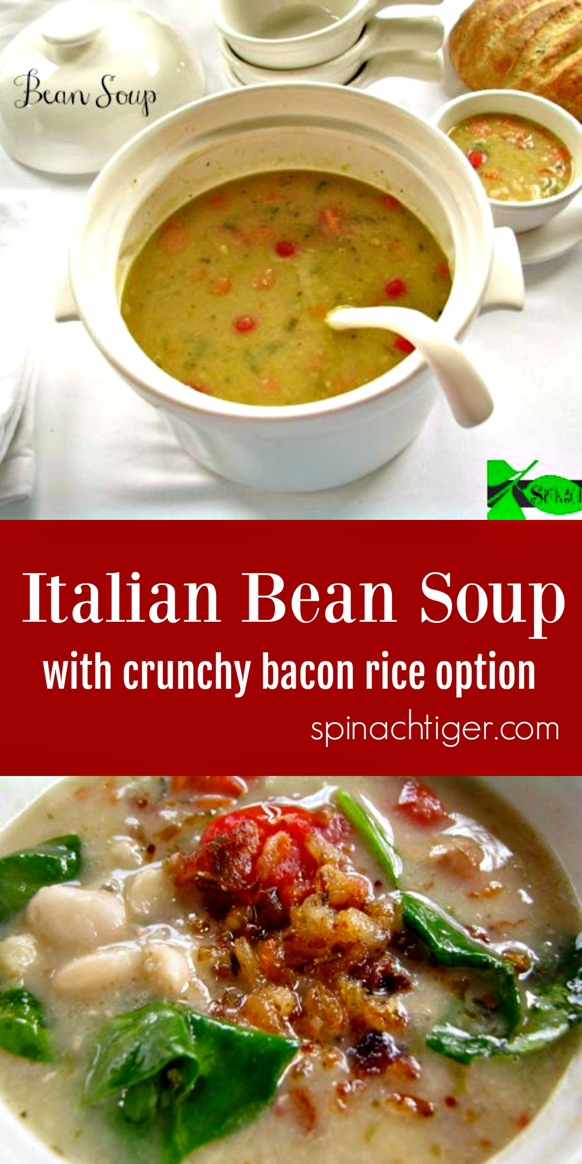 How to Make Italian Bean Soup from Spinach Tiger