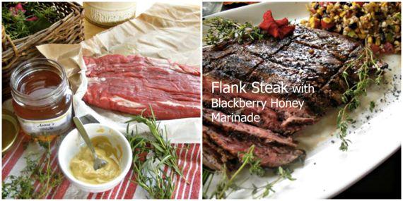 flank steak with blackberry honey marinade by Angela Roberts