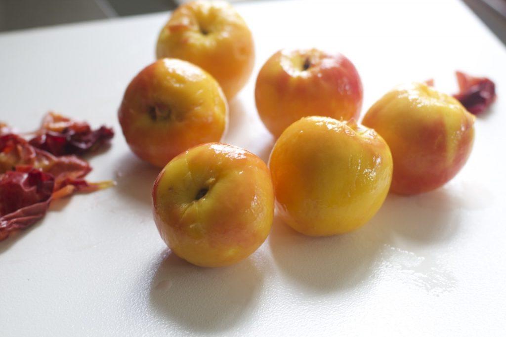 Peach Pie and Peeling Peaches