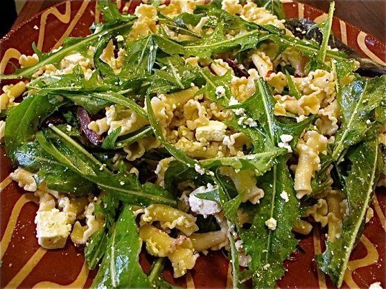 Dandelion Pasta Salad by Angela Roberts
