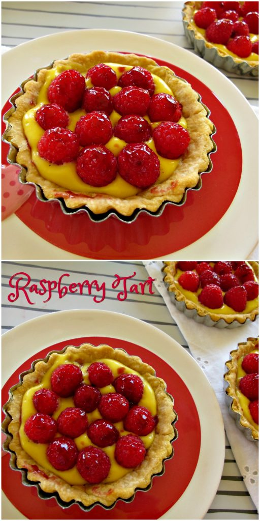 French Raspberry Tart by Spinach Tiger