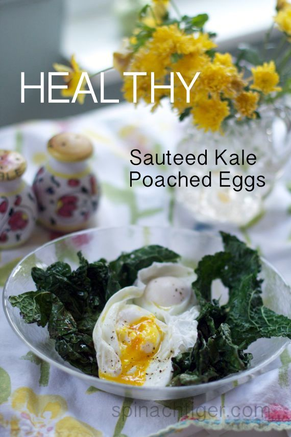 Sauteed Kale and Poached Eggs 2 from Angela Roberts