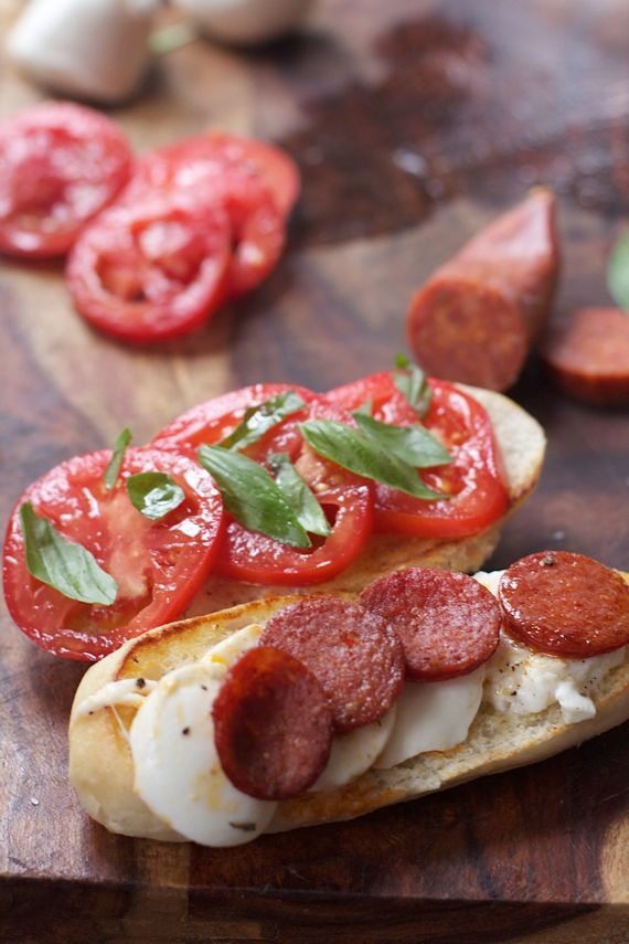 Caprese Pepperoni Sandwich