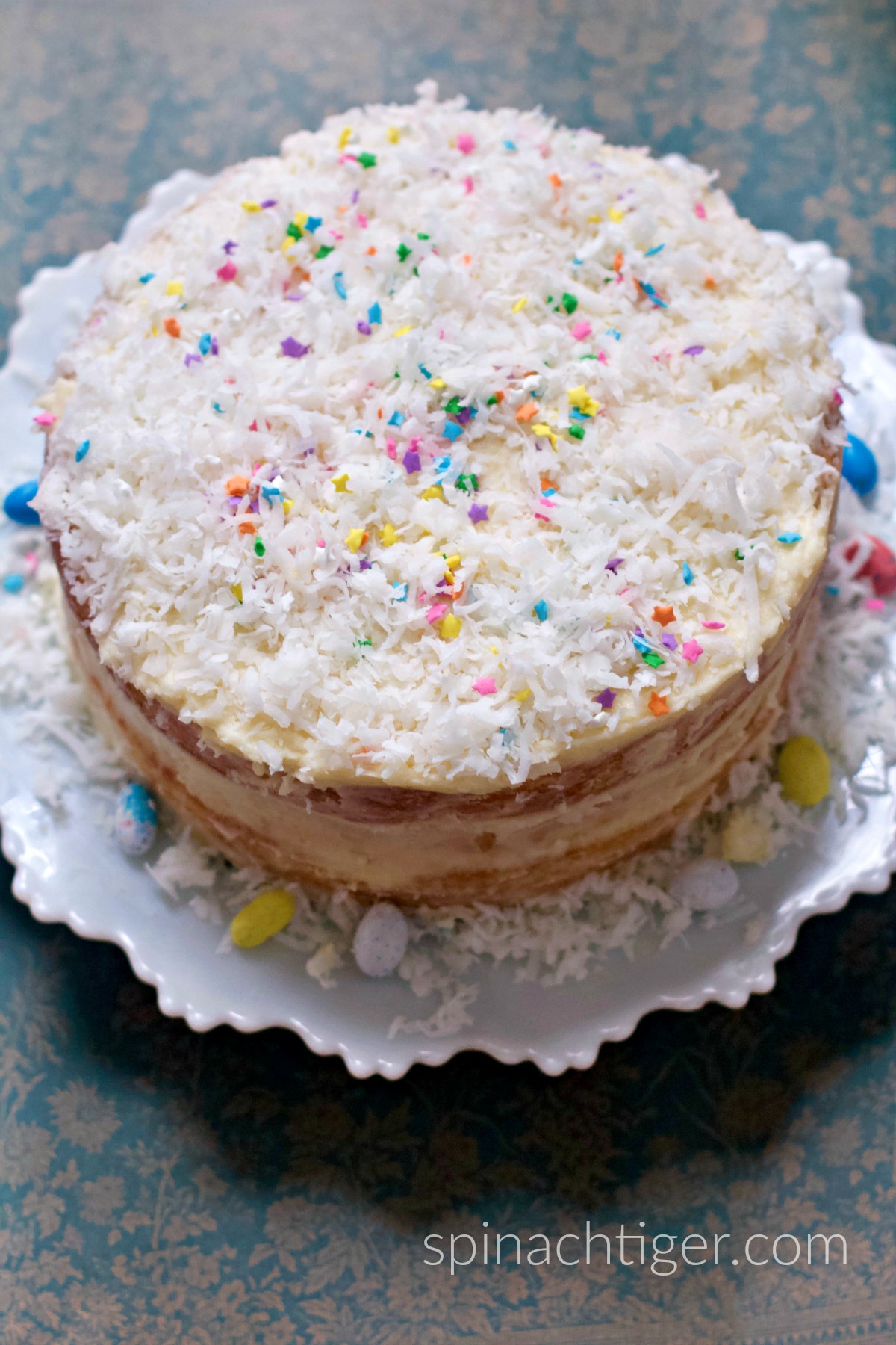 Naked Coconut cake with Buttercream Frosting from Spinach Tiger