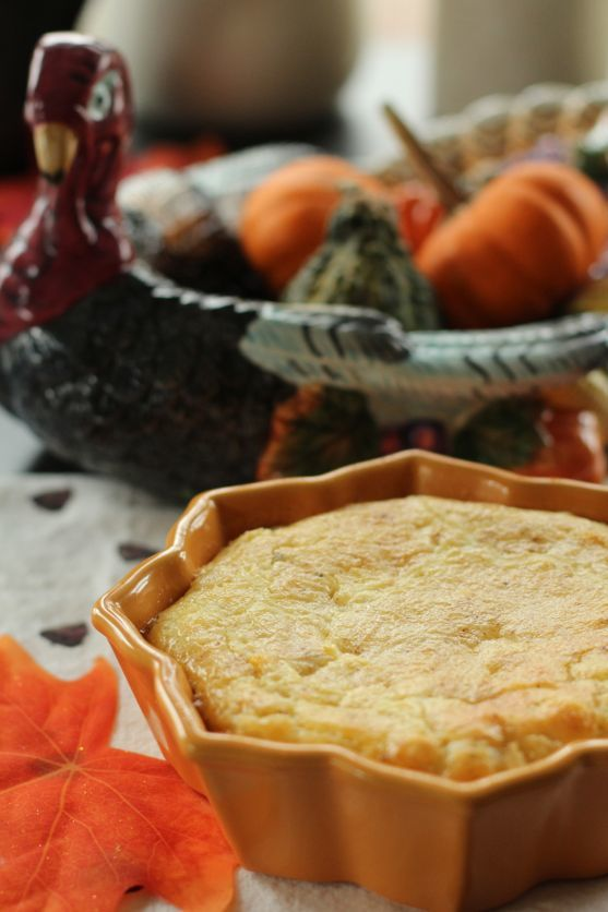 Baked Corn Pudding with a Shallots by Angela Roberts