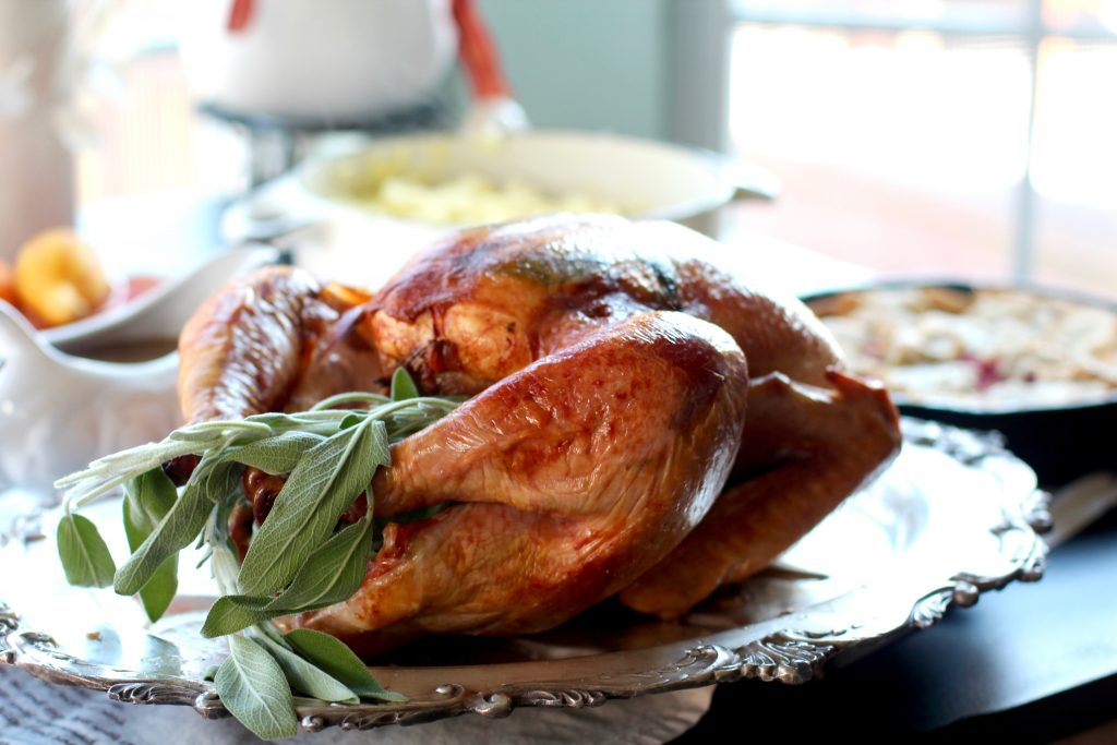 Cheesecloth Roasted Turkey from Spinach Tiger